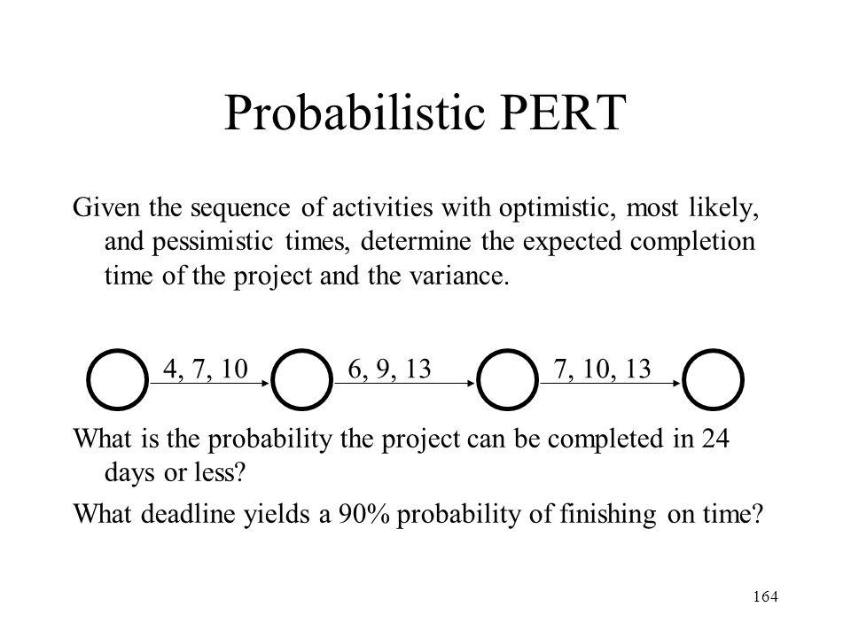 Probabilistic PERT