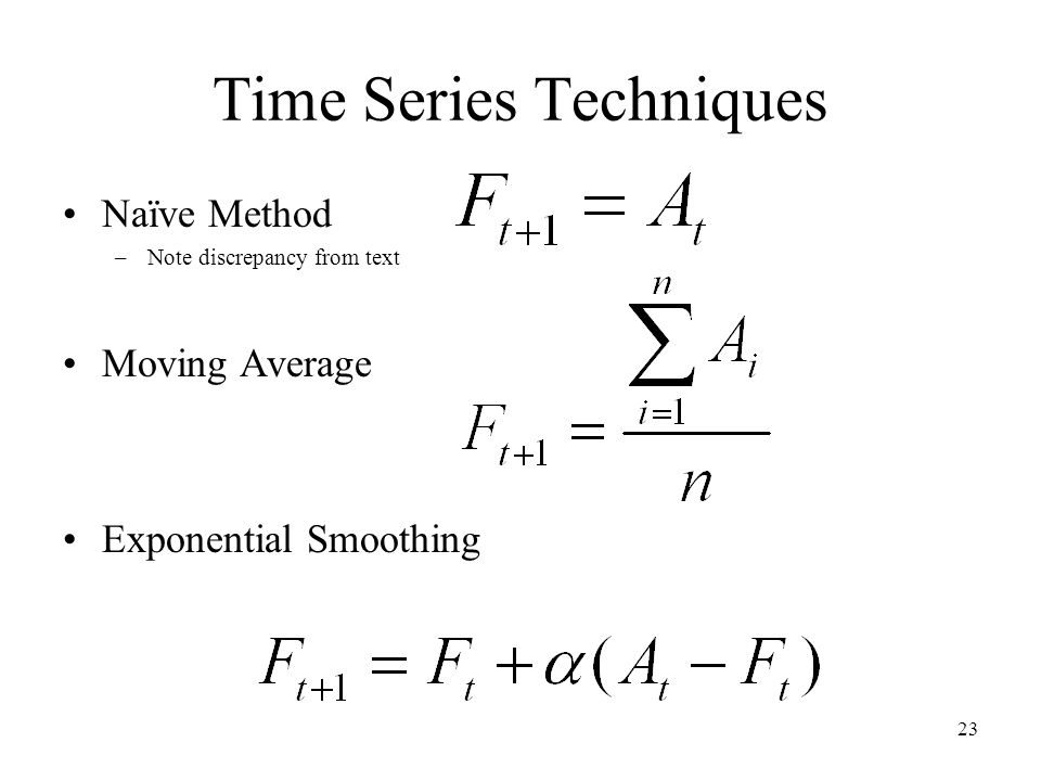 Time Series Techniques
