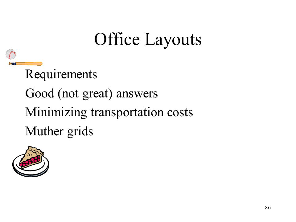 Office Layouts Requirements Good (not great) answers