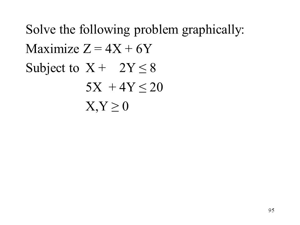 Solve the following problem graphically: