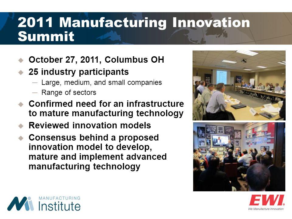 2011 Manufacturing Innovation Summit
