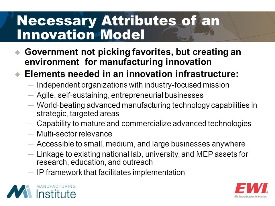 Necessary Attributes of an Innovation Model