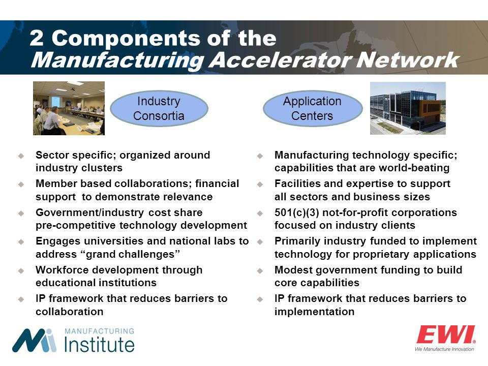 2 Components of the Manufacturing Accelerator Network