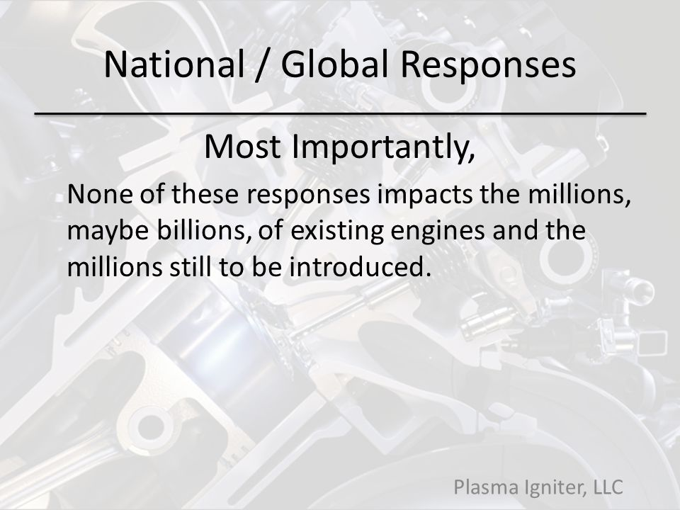 National / Global Responses