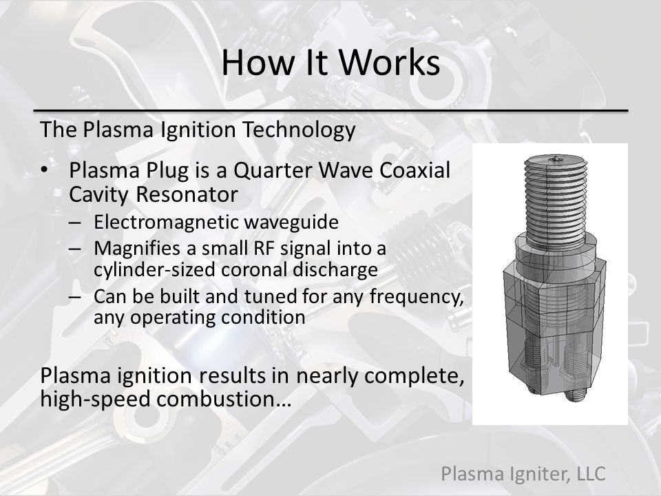 How It Works The Plasma Ignition Technology