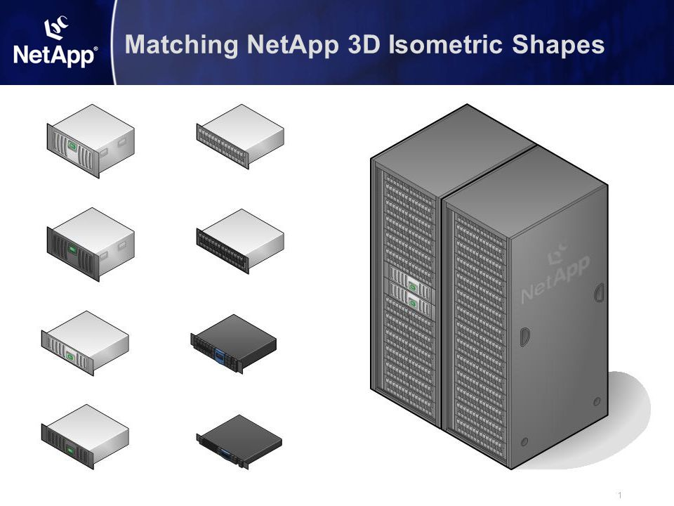 Matching NetApp 3D Isometric Shapes
