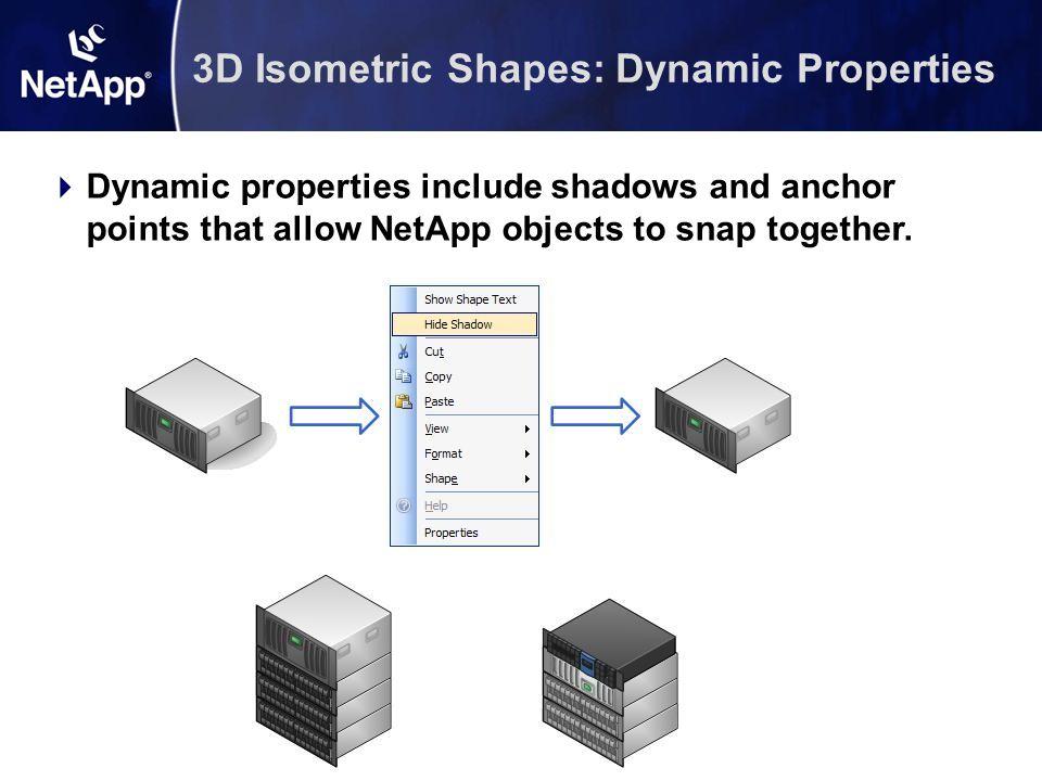 3D Isometric Shapes: Dynamic Properties