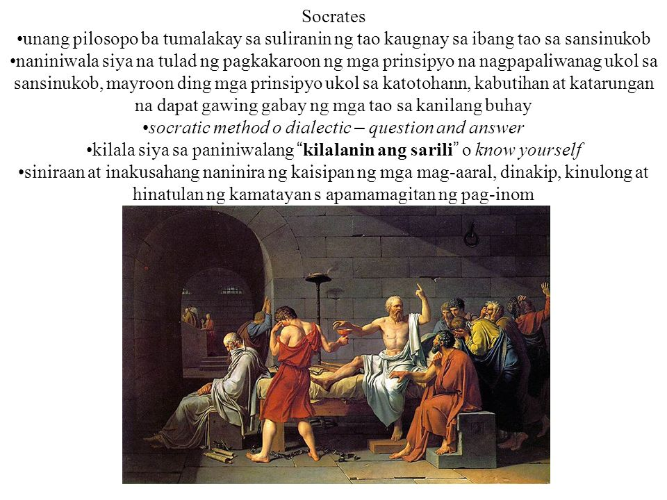 socratic method o dialectic – question and answer