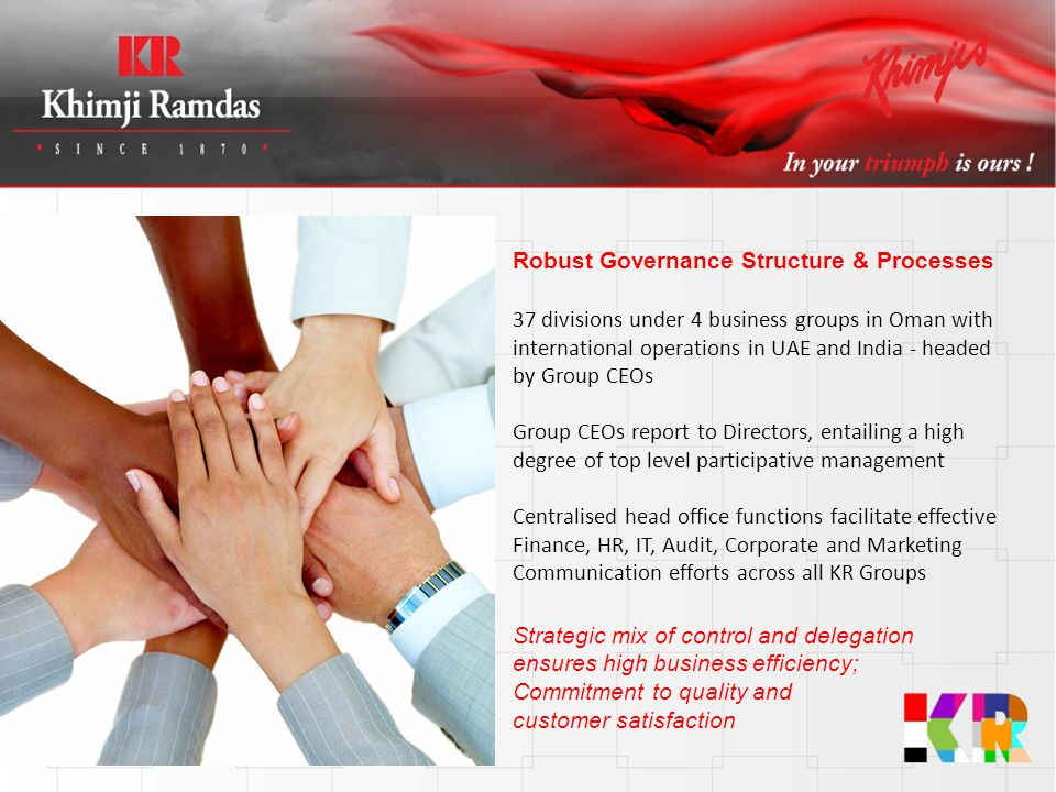 Robust Governance Structure & Processes