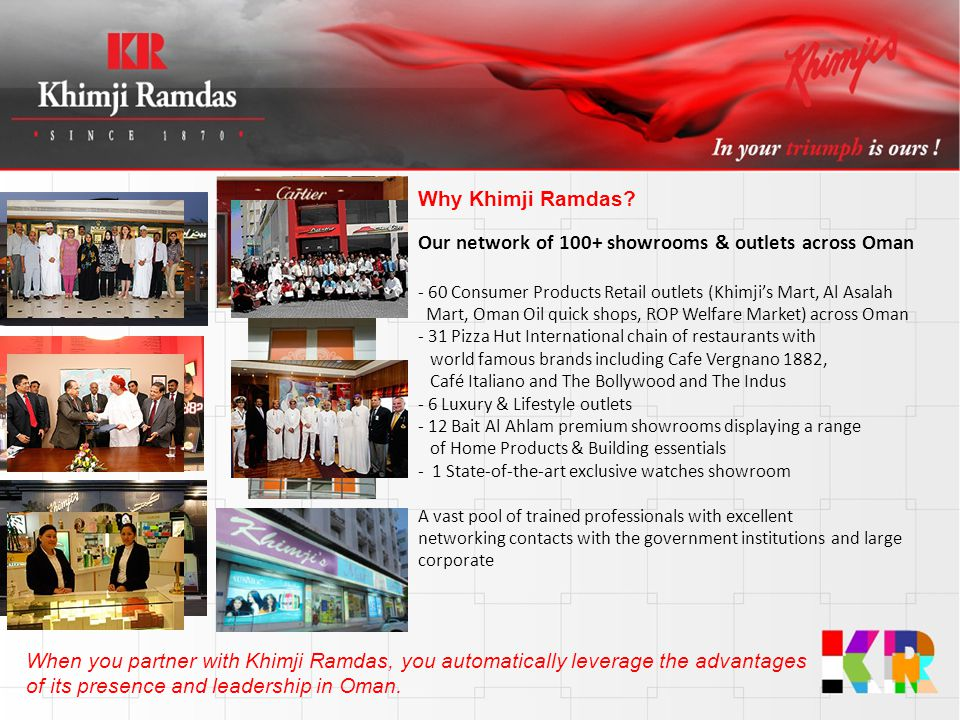 Our network of 100+ showrooms & outlets across Oman