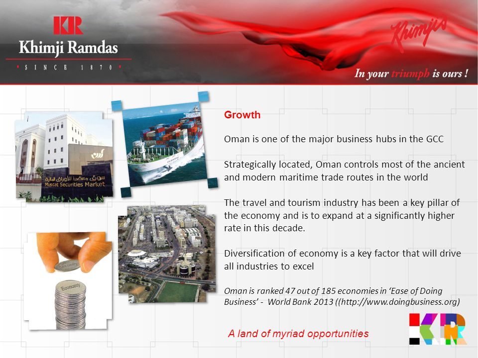 Oman is one of the major business hubs in the GCC