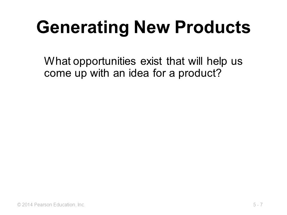 Generating New Products
