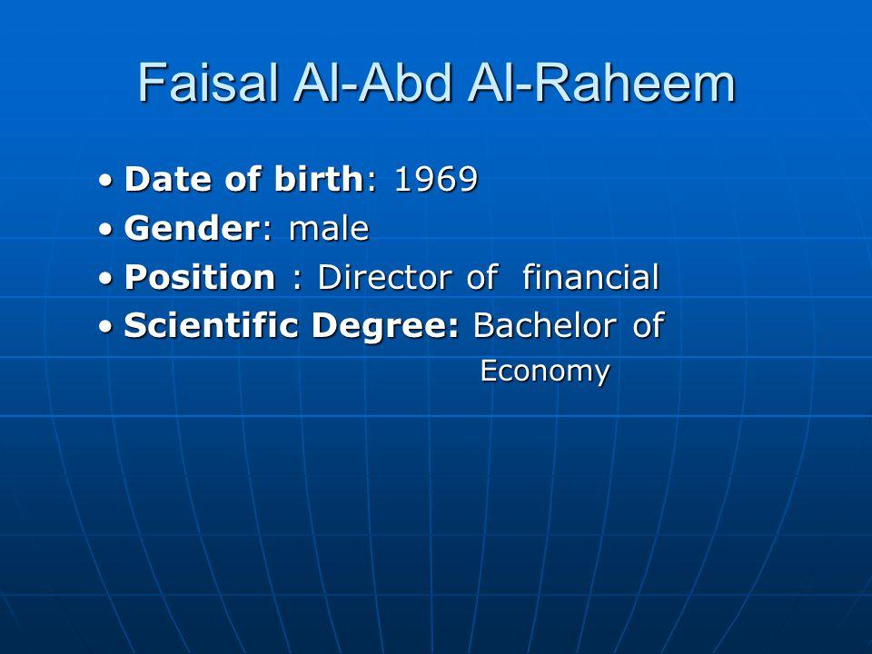 Faisal Al-Abd Al-Raheem