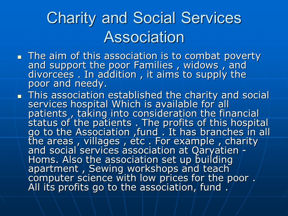 Charity and Social Services Association
