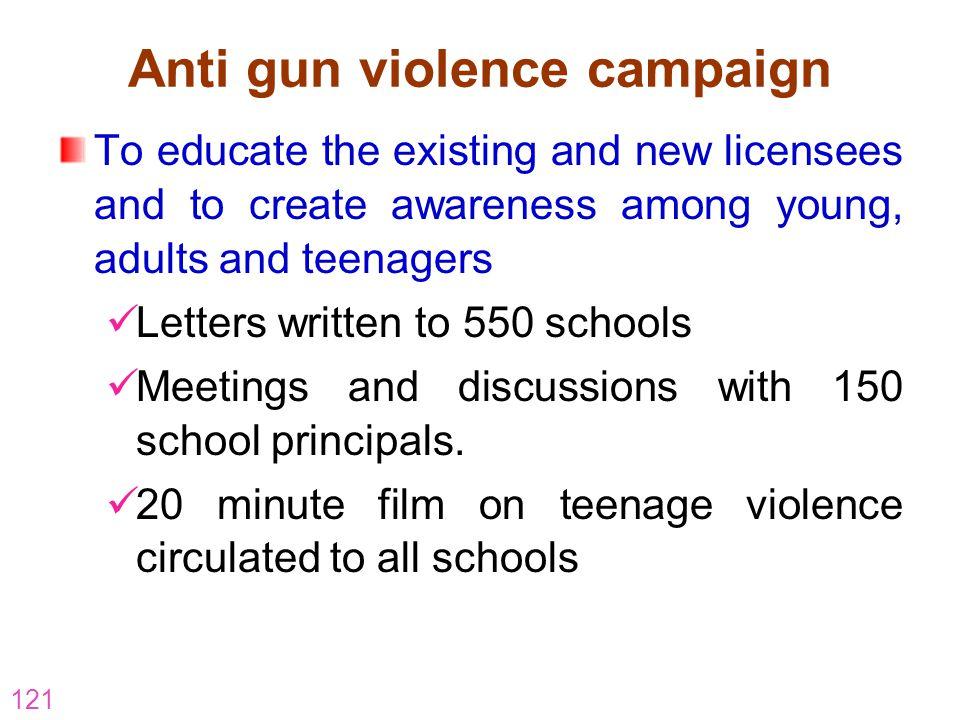 Anti gun violence campaign