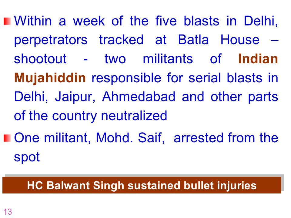 HC Balwant Singh sustained bullet injuries