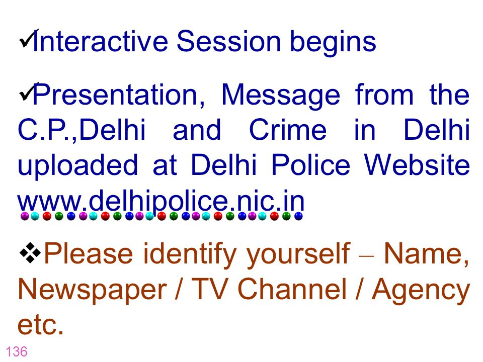 Interactive Session begins