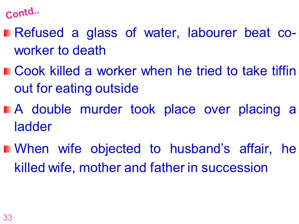 Refused a glass of water, labourer beat co-worker to death
