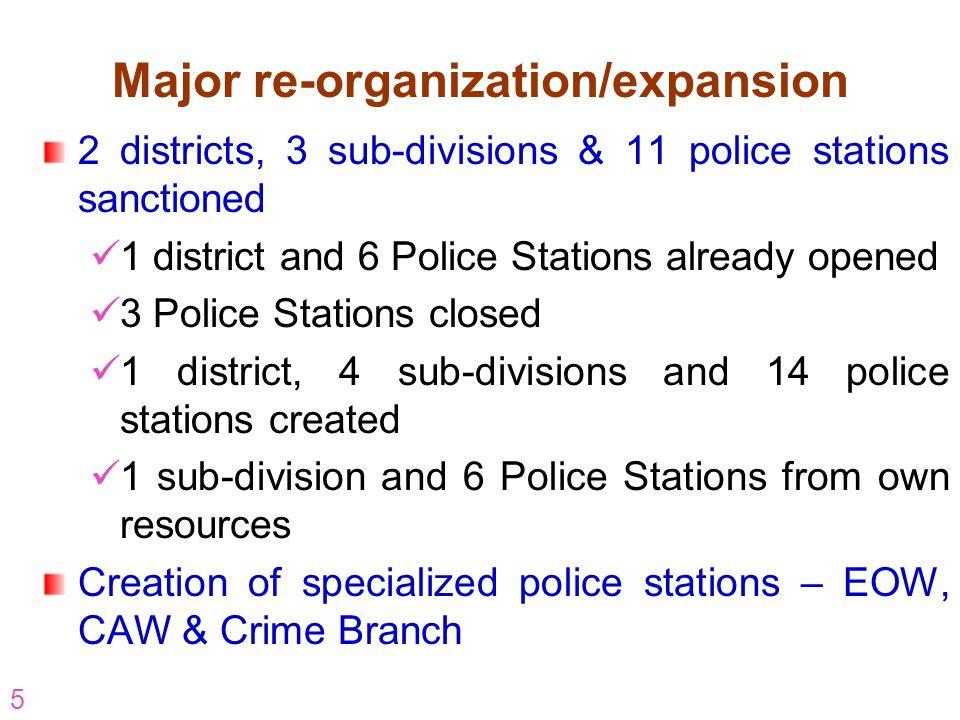 Major re-organization/expansion