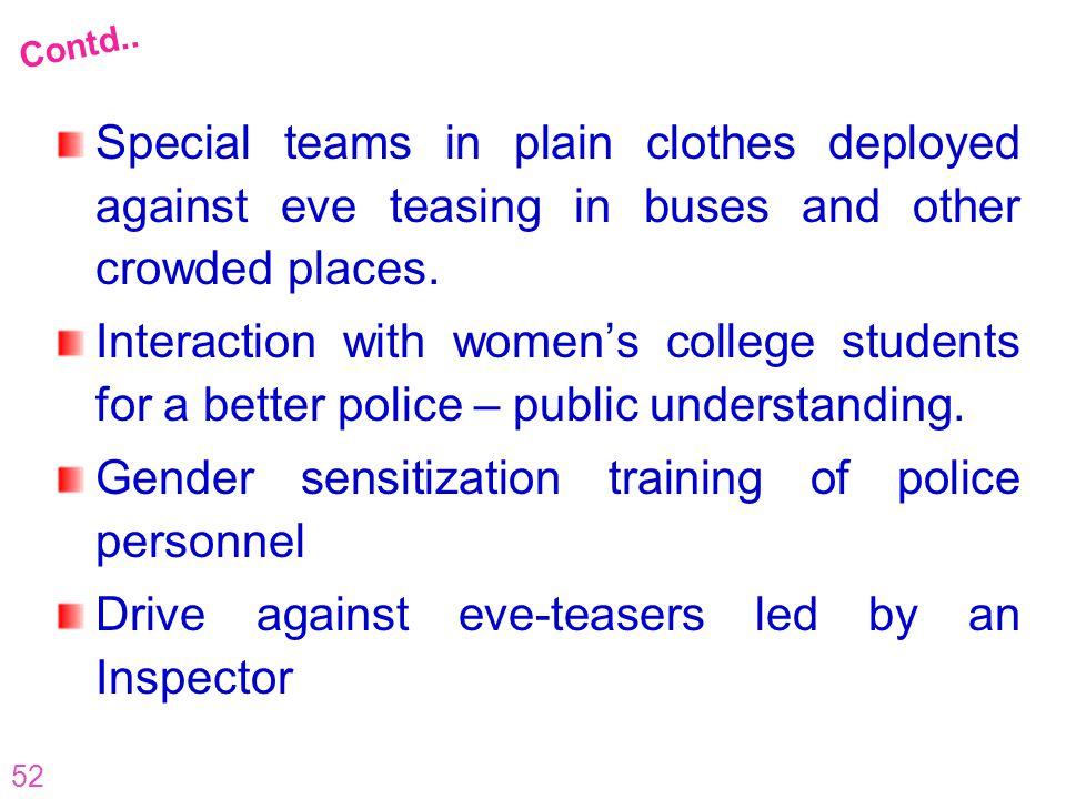 Gender sensitization training of police personnel