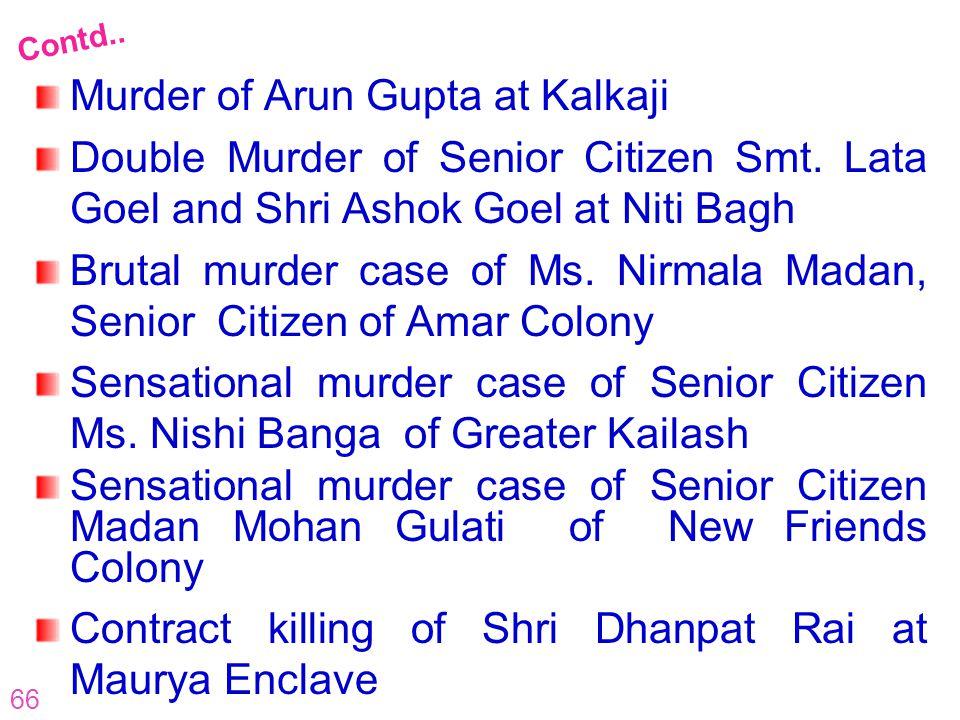 Murder of Arun Gupta at Kalkaji