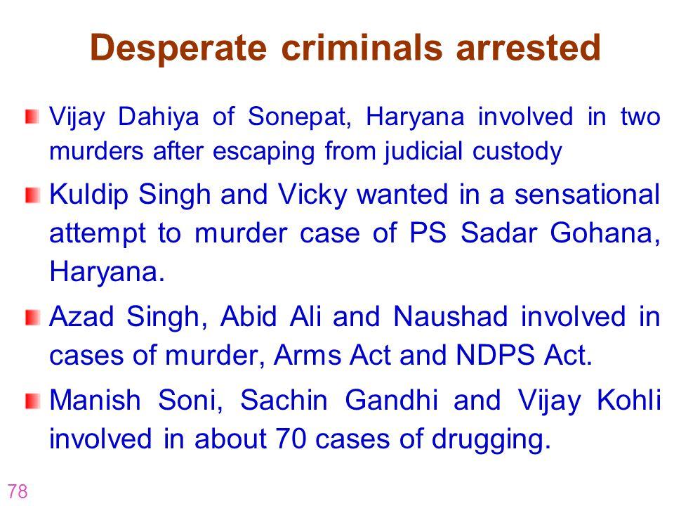Desperate criminals arrested