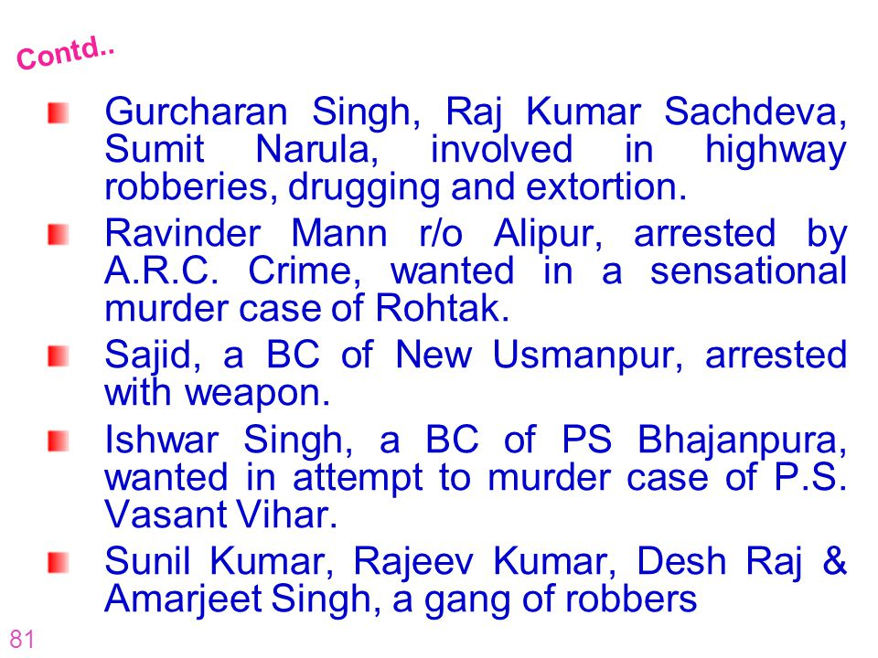 Sajid, a BC of New Usmanpur, arrested with weapon.