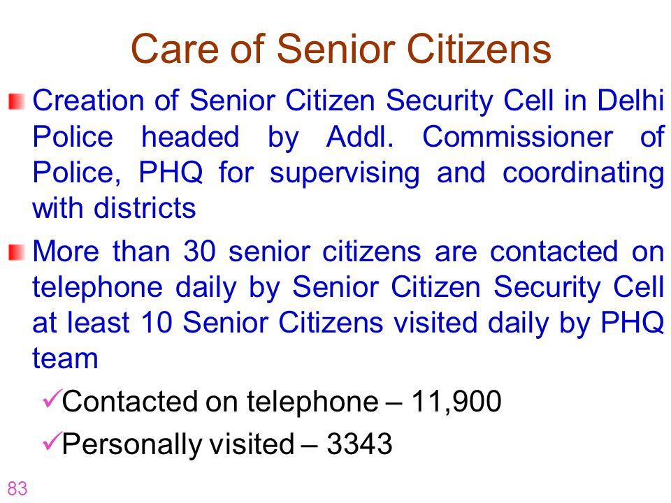 Care of Senior Citizens