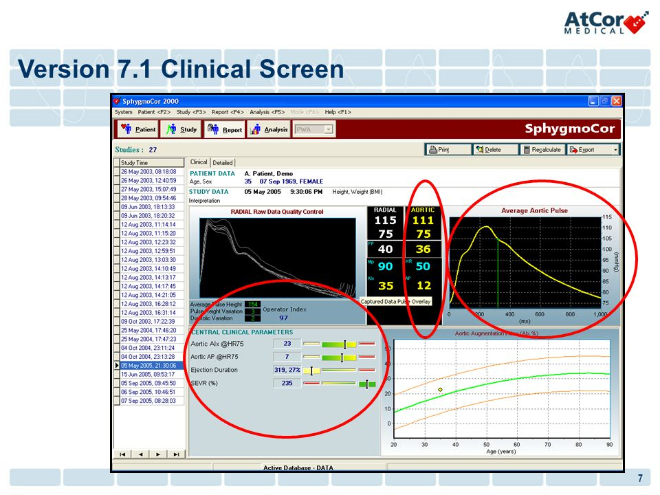 Version 7.1 Clinical Screen