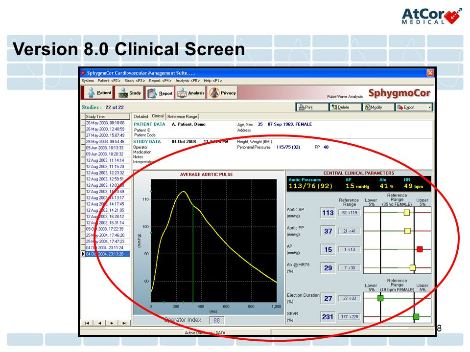 Version 8.0 Clinical Screen