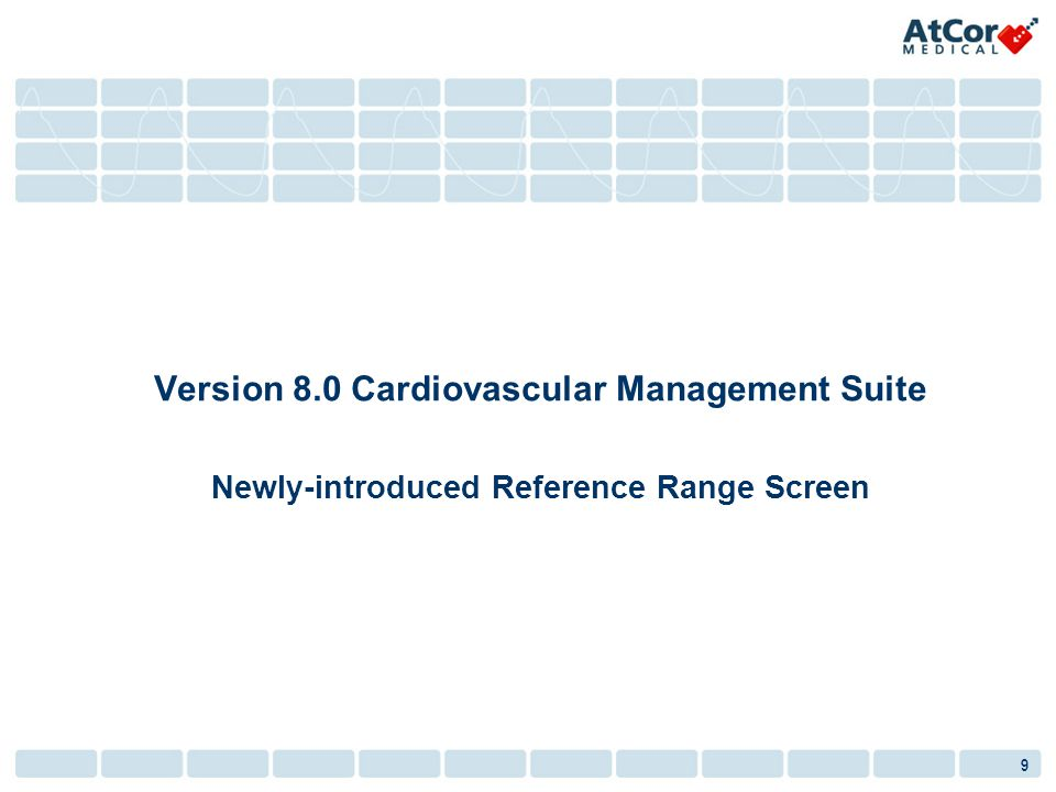 Version 8.0 Cardiovascular Management Suite