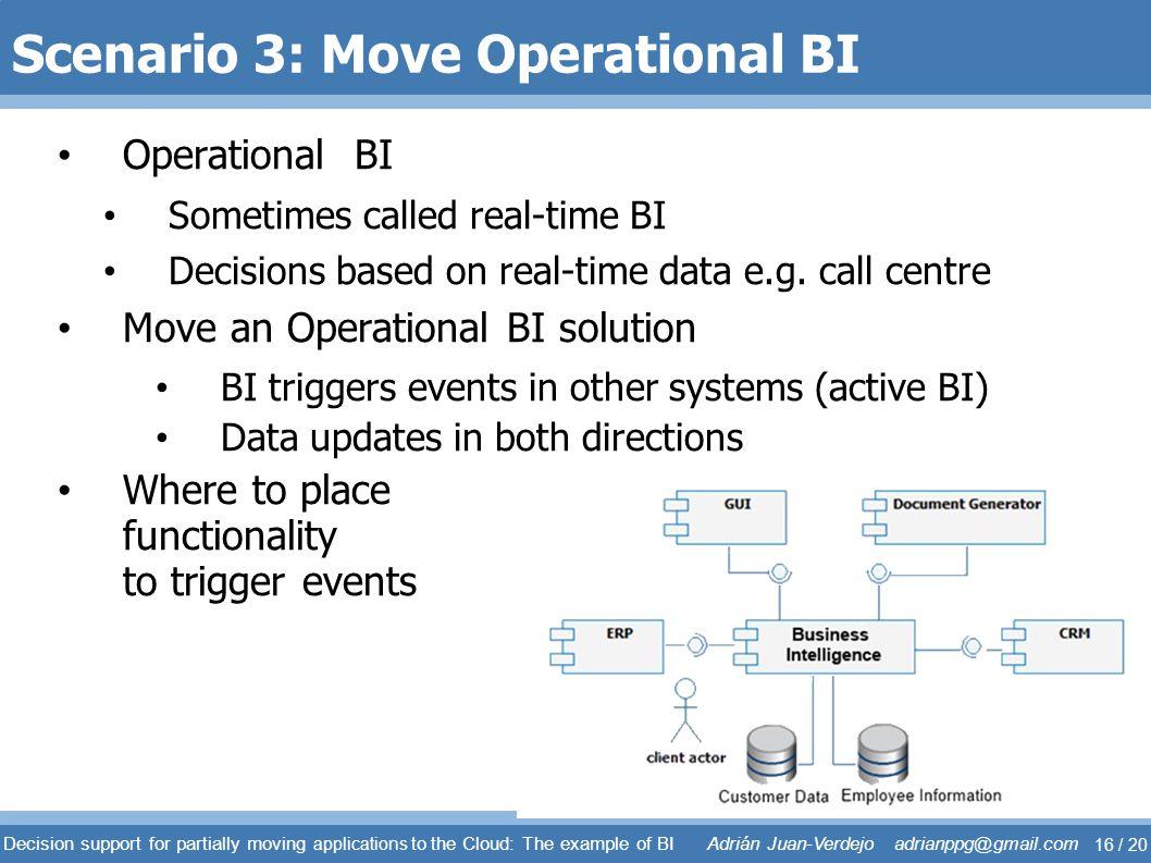 Scenario 3: Move Operational BI