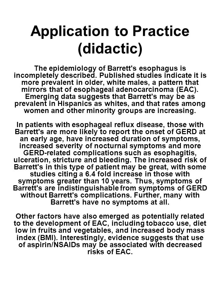 Application to Practice (didactic)