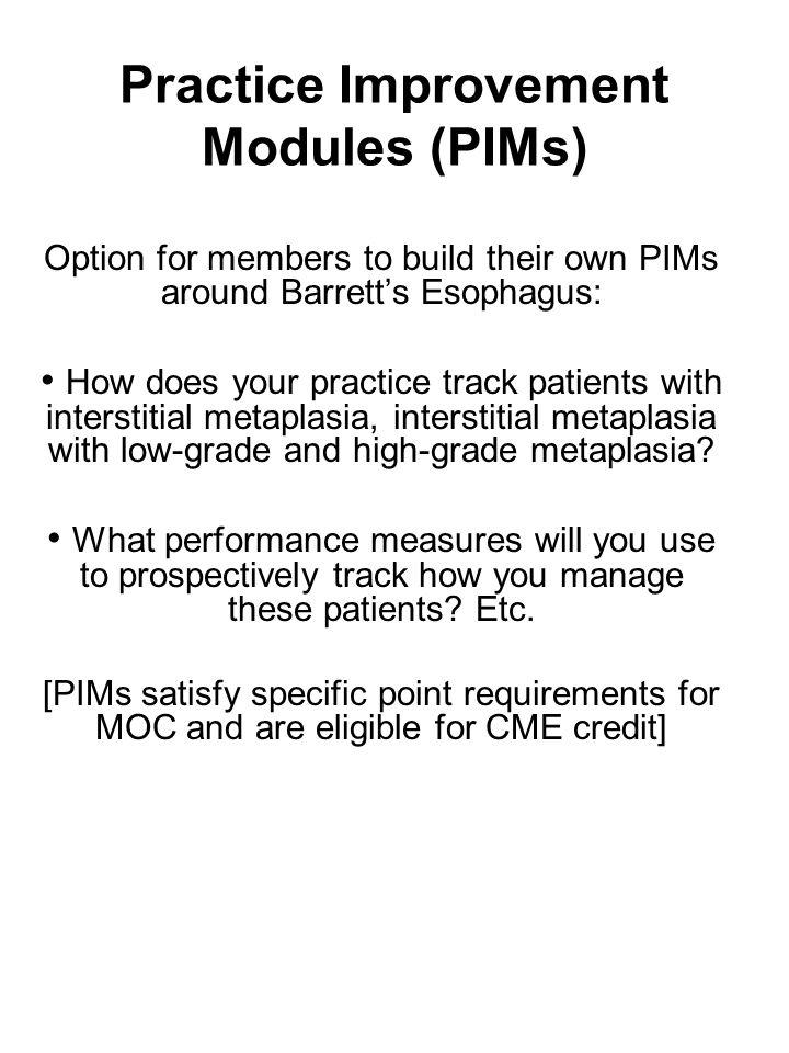 Practice Improvement Modules (PIMs)