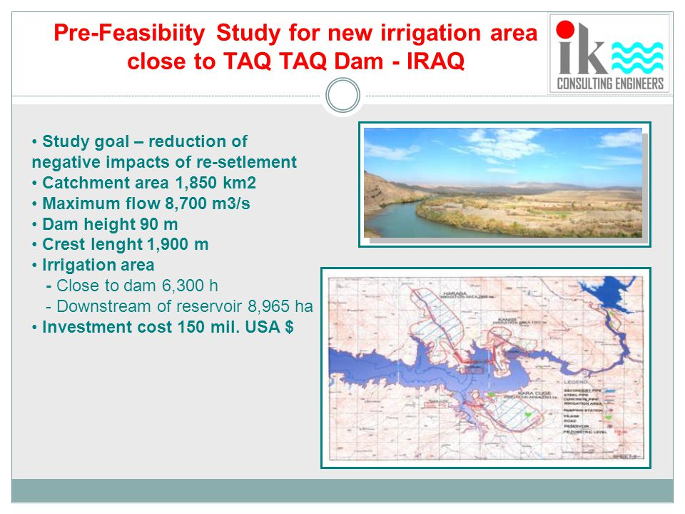 Pre-Feasibiity Study for new irrigation area