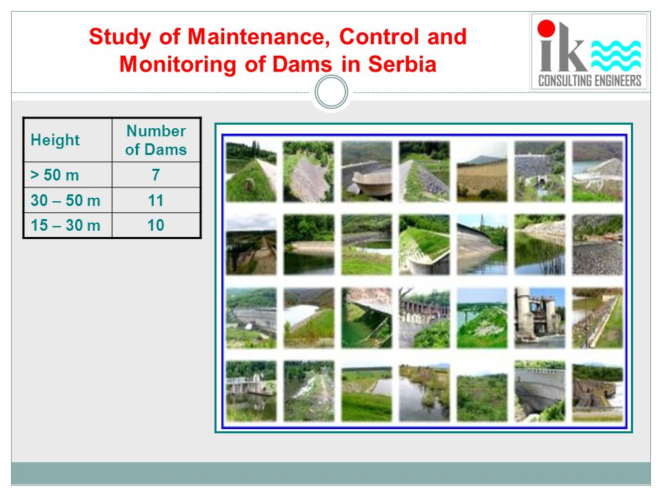 Study of Maintenance, Control and Monitoring of Dams in Serbia