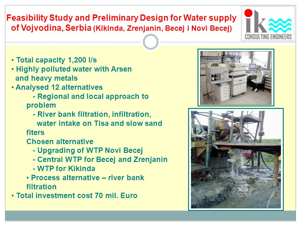 Feasibility Study and Preliminary Design for Water supply