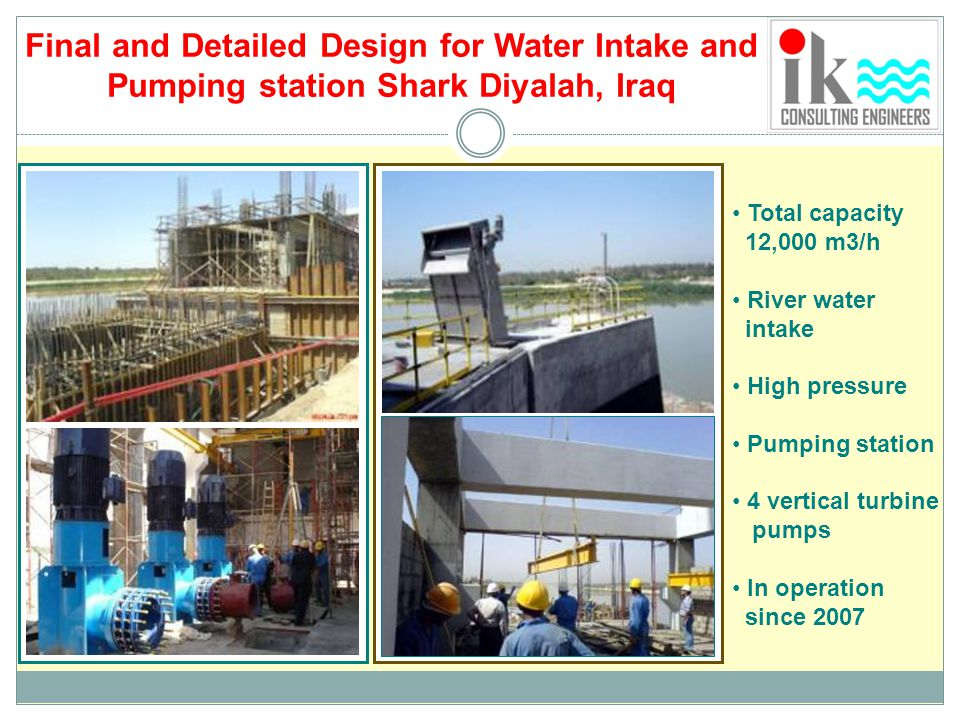 Final and Detailed Design for Water Intake and