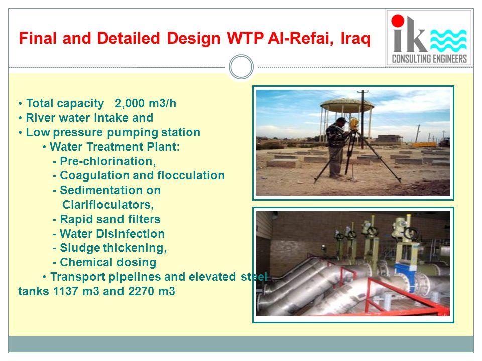 Final and Detailed Design WTP Al-Refai, Iraq