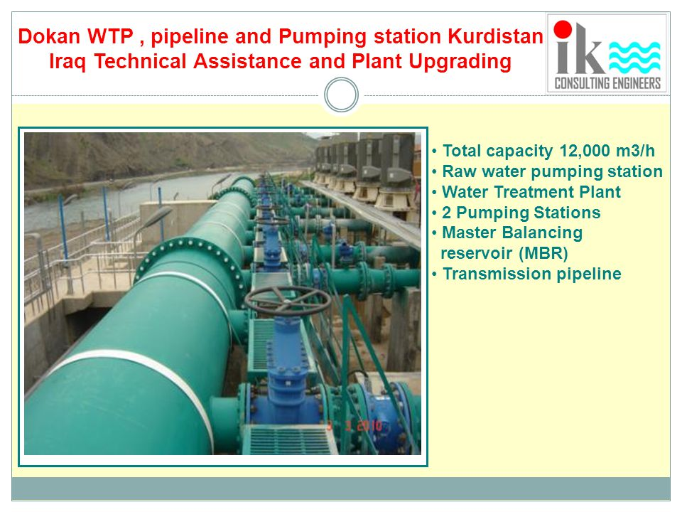 Dokan WTP , pipeline and Pumping station Kurdistan