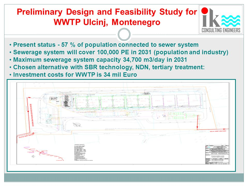 Preliminary Design and Feasibility Study for WWTP Ulcinj, Montenegro