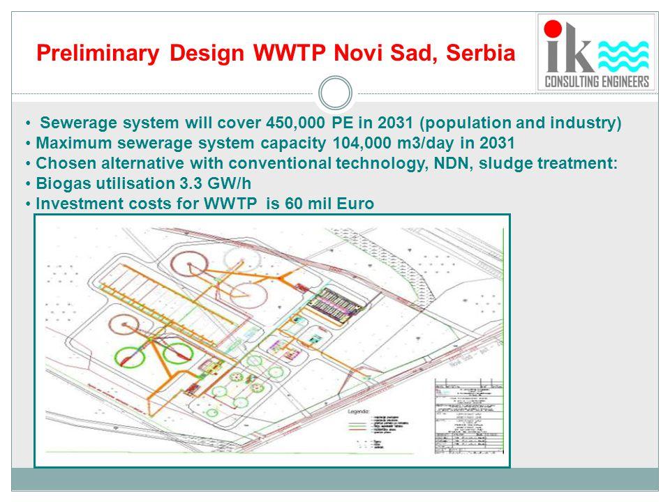 Preliminary Design WWTP Novi Sad, Serbia