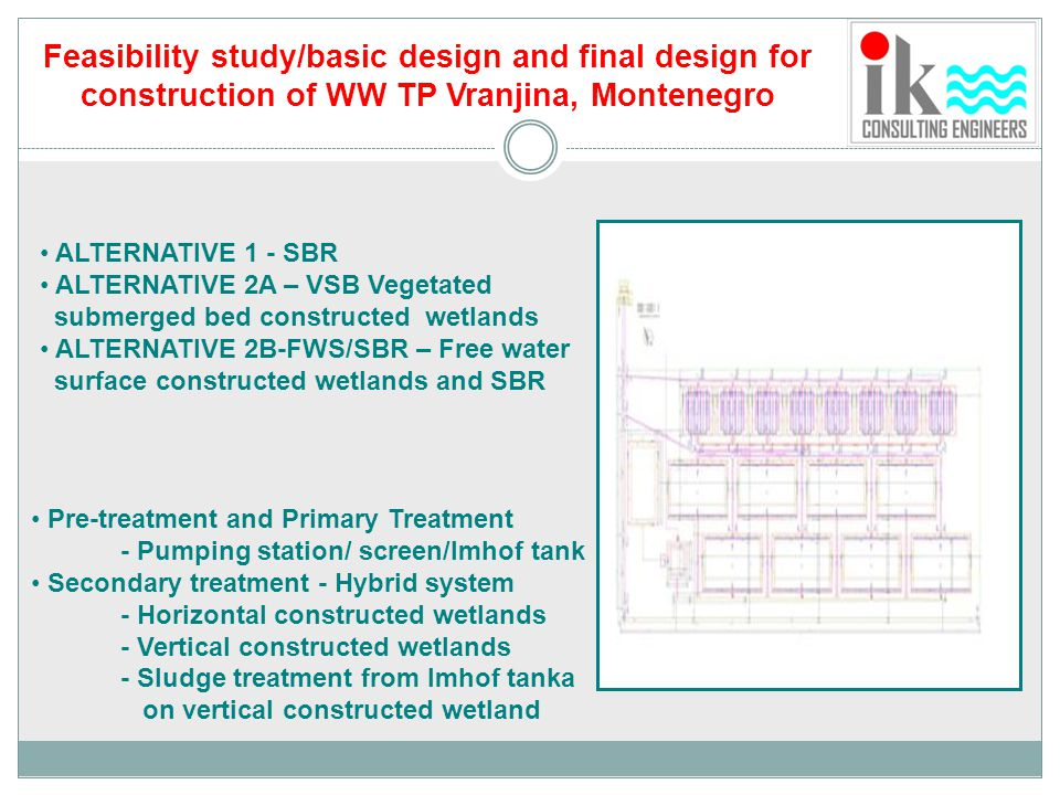 Feasibility study/basic design and final design for