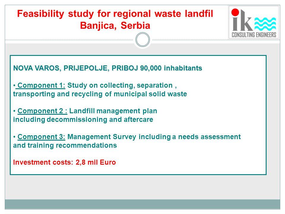 Feasibility study for regional waste landfil