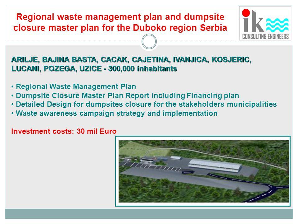 Regional waste management plan and dumpsite