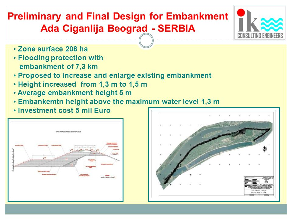 Preliminary and Final Design for Embankment