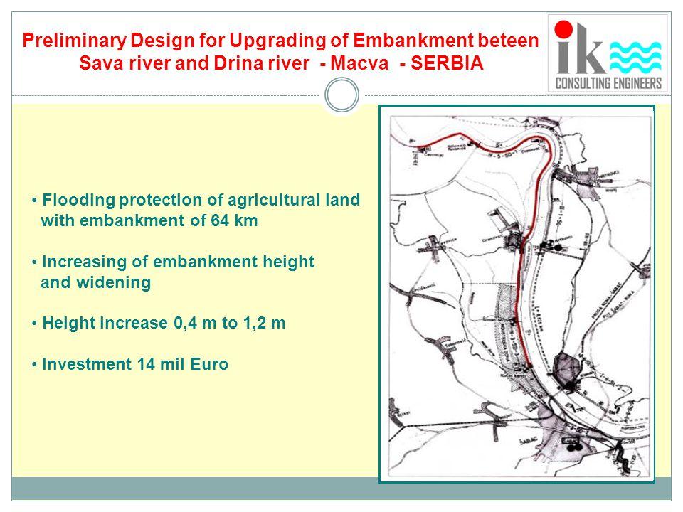 Preliminary Design for Upgrading of Embankment beteen