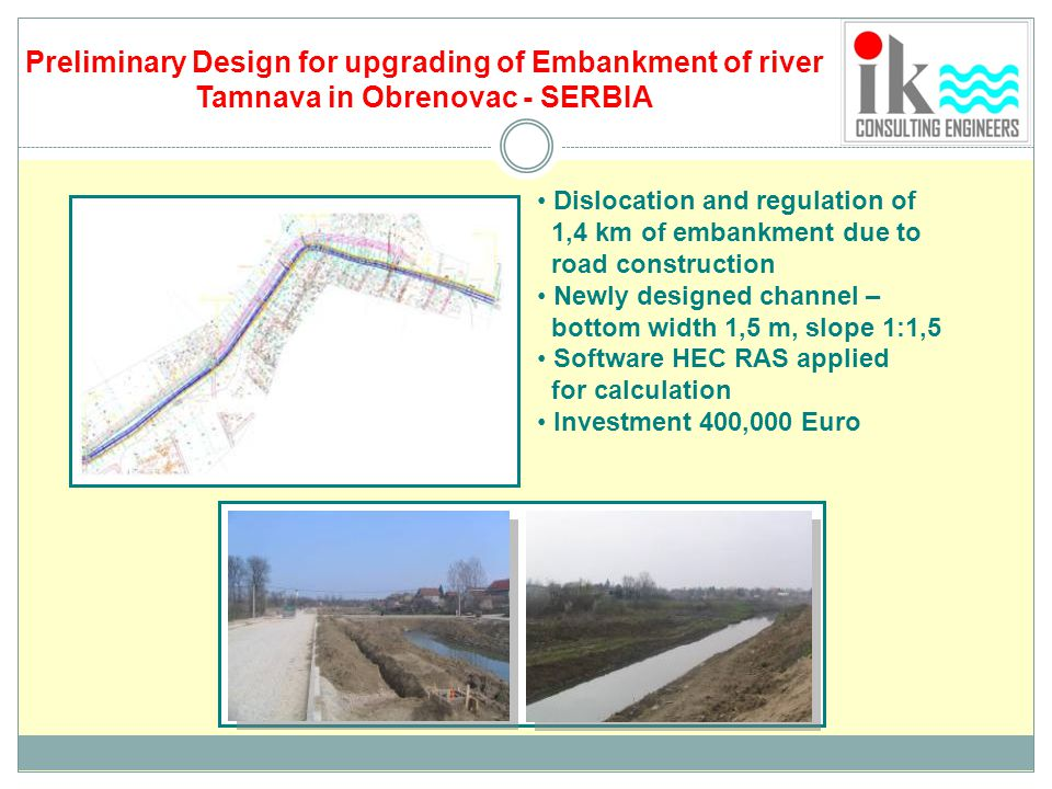 Preliminary Design for upgrading of Embankment of river