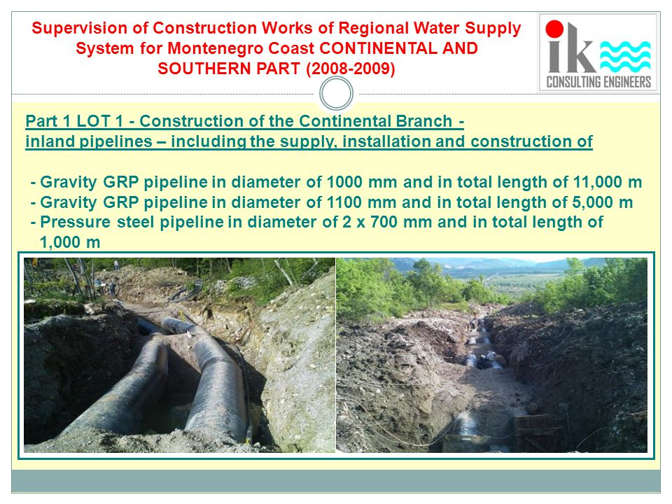 Supervision of Construction Works of Regional Water Supply