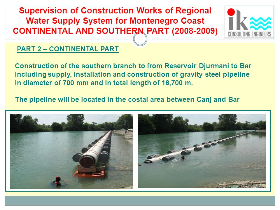 Supervision of Construction Works of Regional